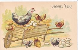 23804 -Joyeuses Paques -  Coq Poule Francais Poussin Oeuf -relief -  JC Paris - Pâques