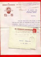 FACTURE ET ENVELOPPE A EN TETE AU PIERROT GOURMAND IVRY SUR SEINE CONFISERIE CHOCOLATERIE BONBON CHOCOLAT 1934 - France