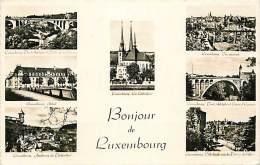VARIE IMMAGINI DEL LUSSEMBURGO - LUXEMBOURG. ELEGANTE CARTOLINA ANNI '50 - Cartoline