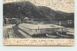HUY  - La Natation Et Le Pont. - Jalhay
