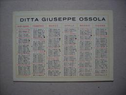 Calendario/calendarietto DITTA GIUSEPPE OSSOLA - Torino 1932 - Calendari