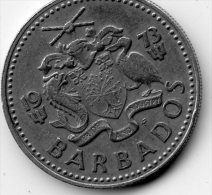 Barbados 25 Cents 1973 - Barbades