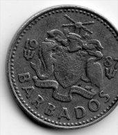 Barbados 25 Cents 1987 - Barbades