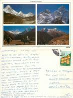 Everest Region, Nepal Postcard Posted 1994 Stamp - Nepal