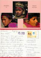 Nepali Women Jewellery, Nepal Postcard Posted 1984 Stamp - Nepal