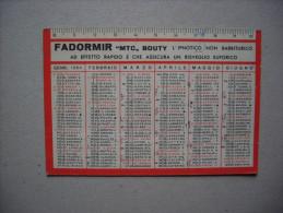 """Calendario/calendarietto FADORMIR """"MTC"""" Bouty - L'ipnotico Non Barbiturico. Farmacia Dott.Usuelli MILANO 1964 - Formato Grande : 1961-70"""