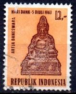 INDONESIA 1963 National Banking Day - 12r Daneswara, God Of Prosperity FU - Indonesien