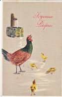 23814 Joyeuses Paques  -  Coq Poule Poussin Oeuf Francaise Fontaine- Editeur Raphael Tuck Paris S 780 - Pâques
