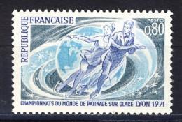 A VOIR!!!** N°1665  De 1971  SCAN CONTRACTUEL RECTO-VERSO - France
