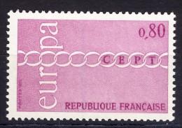 A VOIR!!!** N°1677  De 1971  SCAN CONTRACTUEL RECTO-VERSO - France