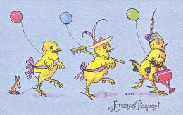 23820 Joyeuses Paques  -  Coq Poule Poussin Oeuf Ronde Ballon Defile Lapin Chasse - Dessin -ed ? RKW 4613-2 - Pâques