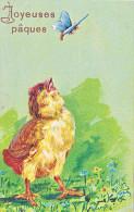23822 Joyeuses Paques  -  Coq Poule Poussin Oeuf Papillon - Dessin Relief - Sans Ed -serie 2088