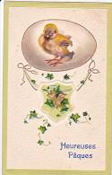 23823 Joyeuses Paques Heureuses -  Coq Poule Poussin Oeuf Lierre - Dessin Relief - Ed AOL -serie 638 - Pâques