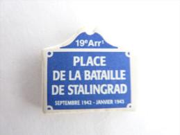 FEVE PANEAU SIGNALISATION DE RUE PLACE DE LA bataille de stalingrad 19 �me Ardt