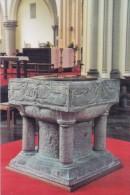LICHTERVELDE  : St.-Jacobuskerk: Romaanse Doopvont Uitgevoerd In Doornikse Blauwe Steen :  BEELDHOUWKUNST,SCULPTURE, - Lichtervelde
