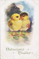 23826 Joyeuses Paques Heureuses -  Coq Poule Poussin Oeuf Amoureux - Dessin - Inter-art London Comique Serie 3086 - Pâques