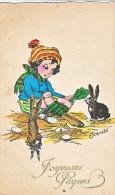 23827 Joyeuses Paques Dessin Enfant E Jornein -lapin Fillette