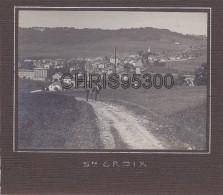 PHOTO ANCIENNE COLLEE SUR CARTON - SAINTE CROIX - VAUD - SUISSE - Places