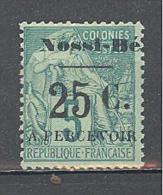 Nossi-Bé: Yvert N° Taxe14*,  MLH; Signé Roumet; Voir Scan - Nossi-Bé (1889-1901)