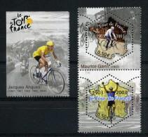 N° P3582 NEUF ** PAIRE TOUR DE FRANCE Verticale + Vignette Jacques ANQUETIL - Neufs