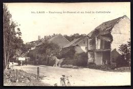 CPA  ANCIENNE- FRANCE- LAON (02)- FAUBOUR ST-MARCEL EN RUINES- VÉLO- ATTELAGE- - Laon