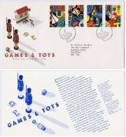 Echecs Lettre Circule Angleterre 1989 Serie Jeux Enfants Chess Letter Travelled England - Echecs