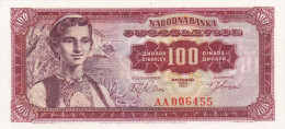 100 Dinara 1963 UNC !!! - Jugoslawien