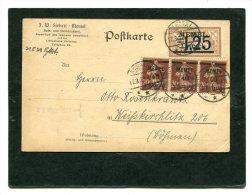 Deutsches Reich Memel Postkarte 1922 - Used Stamps