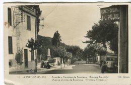 Ed Quera Postcard,  10, Le Perthus, Avenida Y Carretera De Barcelona (Frontera Espanola) - Francia