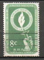 NATIONS UNIES (New York)  8c Vert  1955 N°39 - New-York - Siège De L'ONU