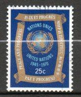 NATIONS UNIES (New York)  25c Multicolore  1970  N°205 - Oblitérés