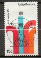 NATIONS UNIES (New York)  15c Multicolore  1972  N°221 - Oblitérés