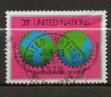 NATIONS UNIES (New York)  31c Argent Lilas Rouge Noir Vert Bleu  1978  N°295 - Oblitérés