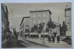 CPA Mazamet Place Gambetta Rue Edouard Barbey - Animé Vue Rare 1918 - KC01 - Mazamet