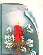 VERY OLD & VINTAGE GREETINGS CARD - CHRISTMAS  GREETINGS - PRINTED AT U.S.A. - Magnets