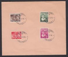 KINGDOM OF YUGOSLAVIA - Stamps For Children, Year 1938, Envelope - 1931-1941 Kingdom Of Yugoslavia