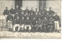 Carte-photo Du 7°régiment D'infanterie à Cahors Eécembre 1913 - Regimente