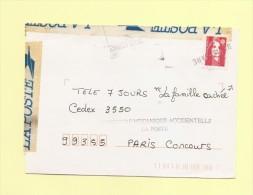 Marianne De Briat - Accidentee - Ouverture Mecanique Accidentelle - Blois Gare - 1995 - Lettere Accidentate