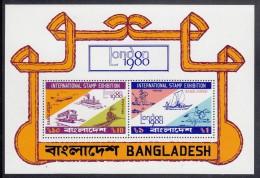 Bangladesh MNH Scott #184a Souvenir Sheet Of 2 Mail Transport - London 80 - Bangladesh