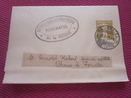 1909 Entiers Postaux Bande Journaux Timbre Guillaume Tell Relief-Neuchâtel Arnold Robert Député Aux états Chaux-de-Fonds - Interi Postali