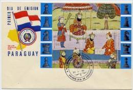 Echecs Lettre Pas Circule Paraguay Chess Letter Not Travelled - Echecs
