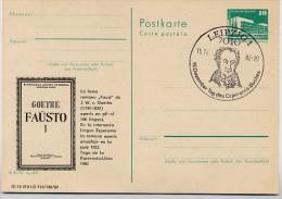 "ESPERANTO GOETHE ""FAUST I""  DDR P 84-12-82 C10 Postkarte Zudruck Leipzig Sost. 1982 - Esperanto"
