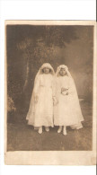 CARTE PHOTO-communion De 2 Jeunes Filles - Comuniones