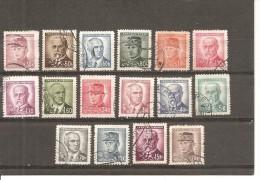 Checoslovaquia - Czechoslovakia Nº Yvert  403-17 (usado) (o) (falta Un Diente En 417) - Checoslovaquia