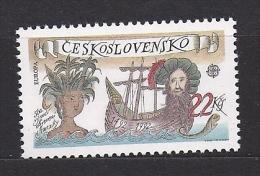 Timbre(s) Neuf(s) **tchécoslovaquie, Europa 1992,n°2913 Y Et T,découverte De L´amérique Par Christophe Colomb, Caravelle - Tchécoslovaquie