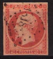 N° 16a - Napoléon  1853, Bien Centré, Marqué 1318 - 1853-1860 Napoleon III