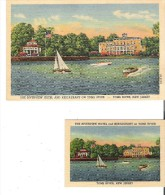 The Riverview Hotel And Restaurant On Toms River, New Jersey   Post  Card And Business Card - Toms River