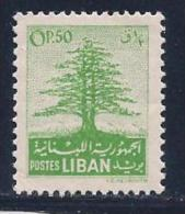 Lebanon, Scott # 256 Mint Hinged Cedar, 1952 - Lebanon