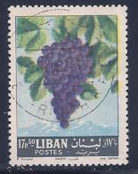 Lebanon, Scott # 398 Used Grapes, 1962 - Lebanon