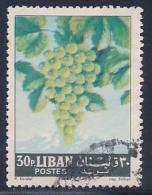 Lebanon, Scott # 399 Used Grapes, 1962 - Lebanon